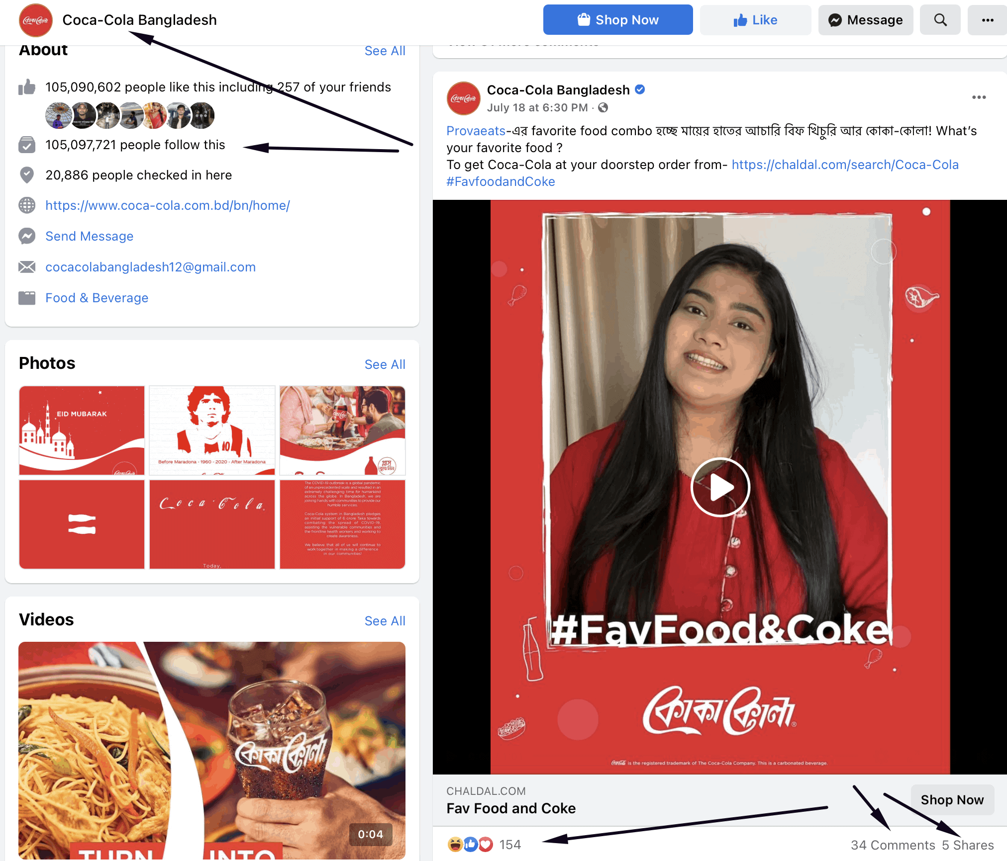 Cocacola Bangladesh Engagements